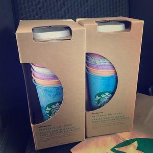 Starbucks Other - 2 Sets Starbucks Hot Reusable Cups